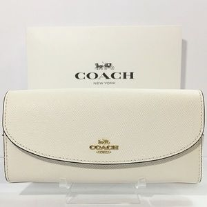 Coach Chalk White Envelope Wallet New
